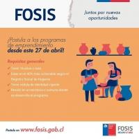 EL LUNES 27 SE ABREN POSTULACIONES AL FOSIS 2020