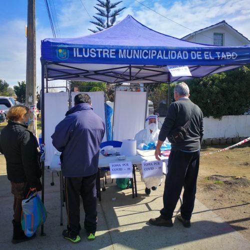 Realizan toma de muestras PCR en Feria de El Tabo