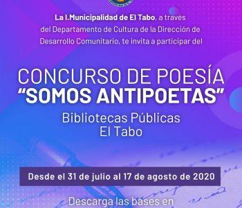 """Bases Concurso de Poesía """"SOMOS ANTIPOETAS"""""""