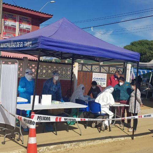 Continúa la búsqueda activa de casos positivos de covid en ferias libres de El Tabo