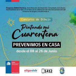 """Premiación Concurso """"Pintando mi Cuarentena"""" en El Tabo"""
