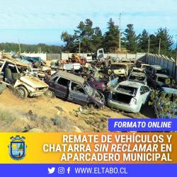 Remate Público Municipal Online de Vehículos y Chatarra municipal