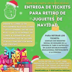 Comienza entrega de Tickets para retirar regalo de Navidad de la Municipalidad de El Tabo