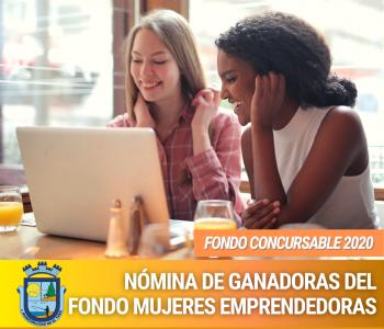 NÓMINAS DE GANADORAS DEL FONDO CONCURSABLE MUJERES EMPRENDEDORAS DE EL TABO 2020.