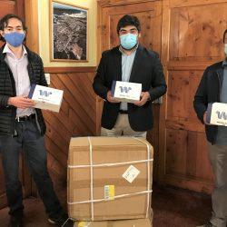 Compañía de Aceros del Pacífico CAP entrega donación de test rápidos a la Municipalidad de El Tabo