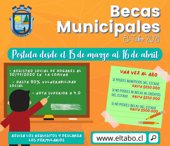 Comienza proceso de Becas Municipales 2021