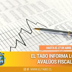 Municipalidad de El Tabo informa sobre los avalúos fiscales