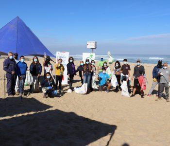 """Con limpieza de playas El Tabo conmemoró """"Día Mundial sin Tabaco"""""""