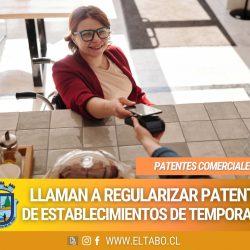 Rentas informa sobre la regularización de patentes de temporada